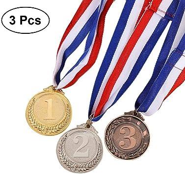 Toyvian Medallas de Medalla de Plata de 3 Piezas Metal Gold Bronce - Medallas de Ganador de Estilo olímpico Gold Silver Bronze for Competition: Amazon.es: Juguetes y juegos