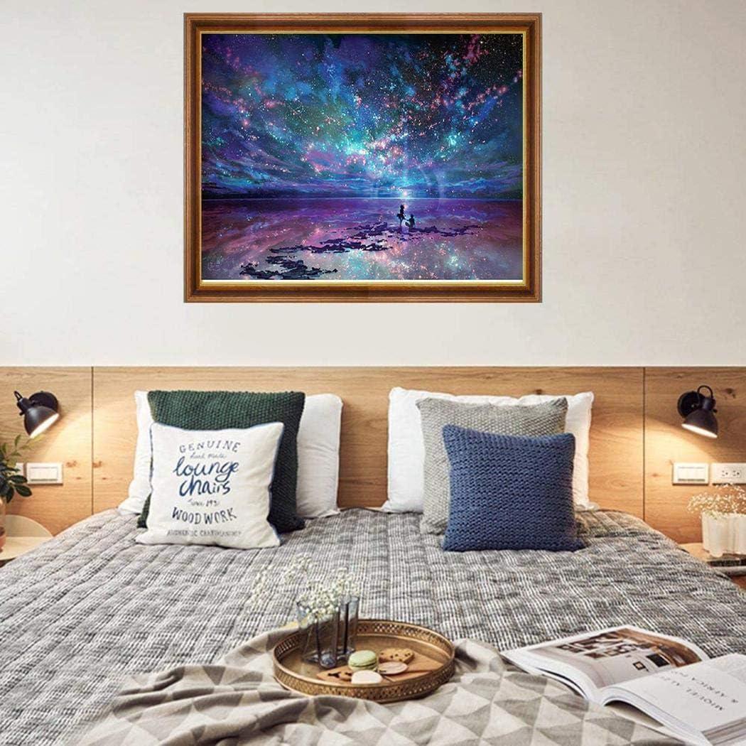 Household DIY Beautiful Aurora Landscape Diamond Painting Kit Cross Stitch Kit