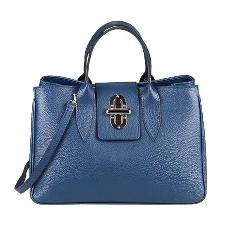 cb064d2bc864e OBC Made in Italy Damen Echt Leder Tasche Business Shopper Aktentasche Schultertasche  Handtasche Ledertasche Umhängetasche Tote