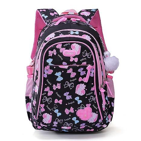 f849e6c0d79141 Zaino per ragazze,Borse da scuola per bambini per studenti primari Lovely  Bow-knot