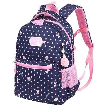 f52429dd85ec1 Vbiger Rucksack Mädchen Rucksack Kinder Schulrucksack Kinderrucksack  Schultasche für mädchen 1-3 Klasse Blau