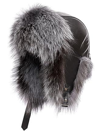 79e019265e477 frr St.Moritz Silver Fox Fur Trapper Hat - S M at Amazon Men s ...
