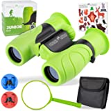 Monte Stivo Junior | Food-Grade Kids Binoculars 8X21 | Light & Compact Children Gift Set for Young discoverers Aged 4 to…