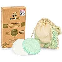 pandoo 10 herbruikbare en wasbare make-uppads van bamboe en katoen, eco-test zeer goed 01/21, make-up remover, minder…