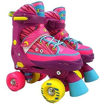 Inlineskating Hudora Rollschuhe Disco-Roller verstellbar Unisex Größe 21 bis 31 Kinder