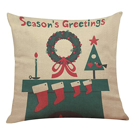Funda de cojín cuadrada, serie Merry Christmas, decoración ...