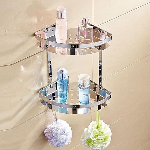304 edelstahl regal eckregal dusche bad badezimmer ecke regale eckregal wandhalterung dreieck regal korb - Eckregal Dusche Glas