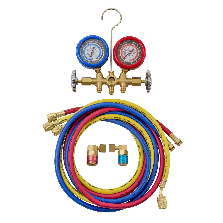 R134a Brass OEMTOOLS 24563 Manifold Gauge Set