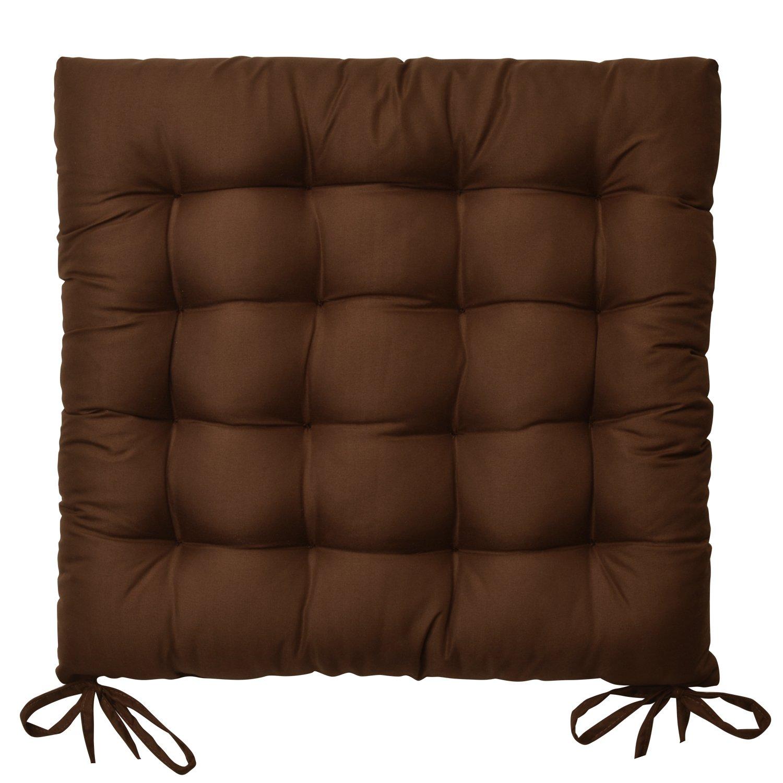 Beautissu Set 6 Lea - comodísimos Cojines para sillas - Vivienda o terraza - 40 x 40 x 5 cm - Marrón