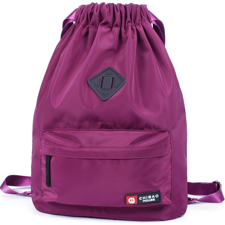 Drawstring Backpack String Bag Cinch Sack Gymsack Sackpack for Women and Men Bookbag Sport Gym