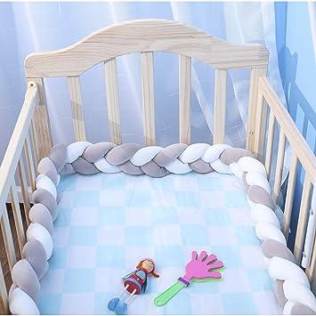 Amazon.com: EASTSURE - Protector de cuna trenzado para bebé ...