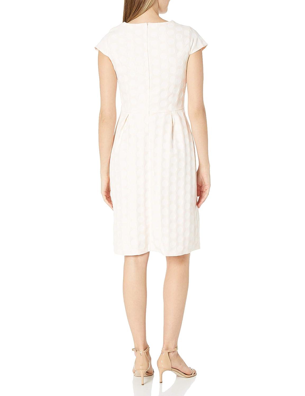 Helene Berman Womens Contrast V-Neck Spot Dress