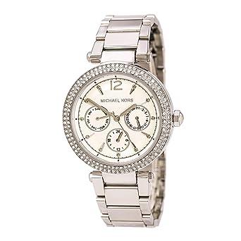8f5ac9412ac4 Amazon.co.jp: Michael Kors (マイケルコース)レディースmk5779 – Parkerスワロフスキー One Size  シルバー: 腕時計