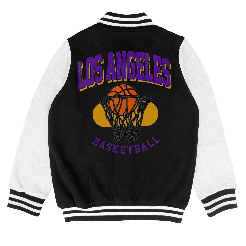 FPFLY Kids Girls Boys Basketball-Legends-Players Cartoon Style Cotton Jackets Button Baseball Uniform 2-10 Years
