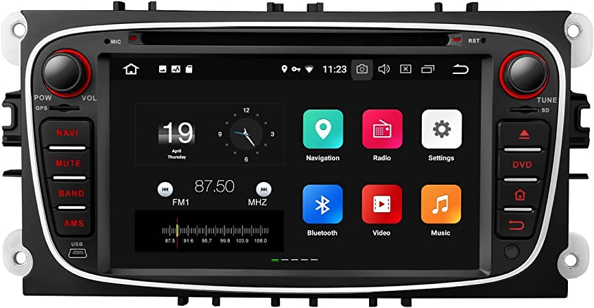 Eonon Android 8 7 Inch Car Dvd Gps Navigation Sat Nav Stereo For Ford Mondeo Focus