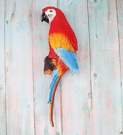 Red Parrot Garden Ornament