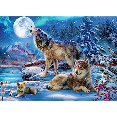 Wolves Winter Wolf Family Puzzle - 1000Piece: Toys & Games