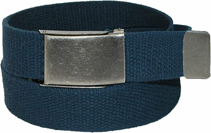 """1.25/"""" X 42/"""" New Made in the USA Men/'s White Cotton Fabric Web Belt"""
