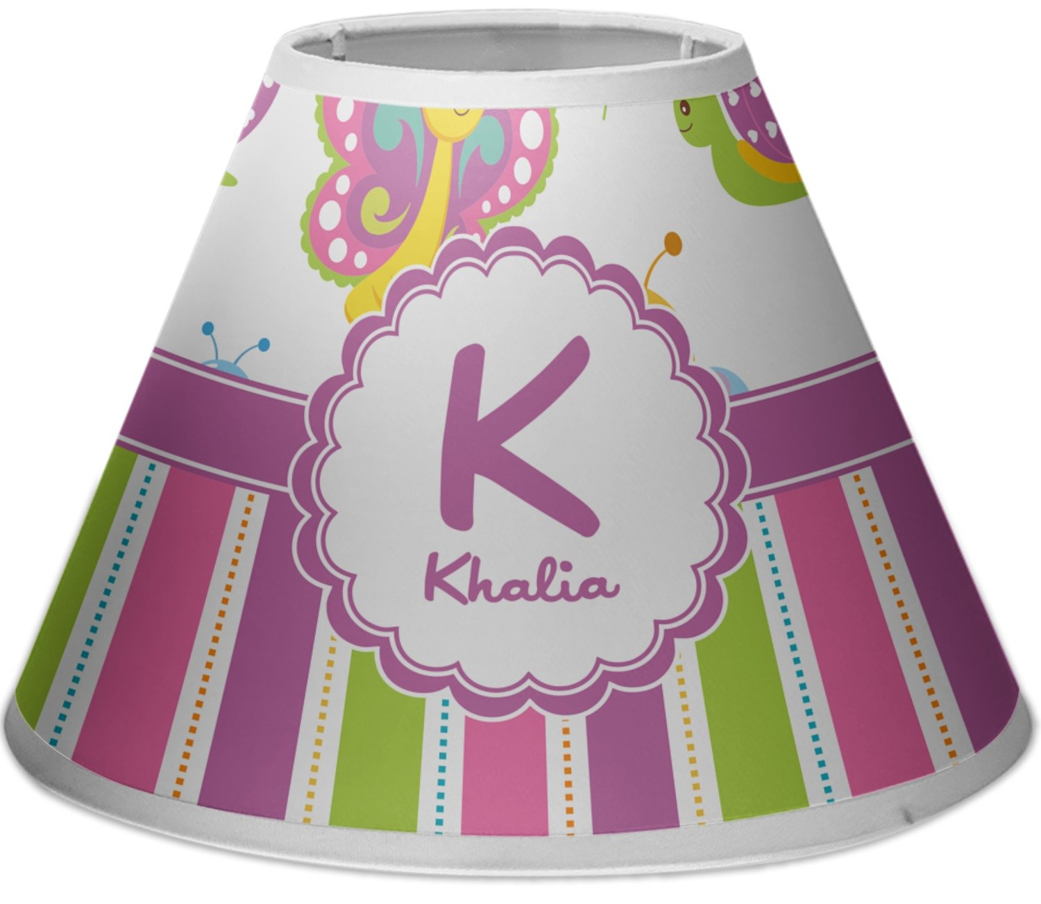 RNK Shops Butterflies & Stripes Empire Lamp Shade (Personalized) by RNK Shops
