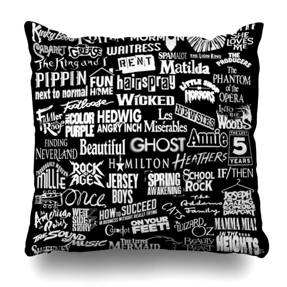 Amazon.com: Mesllings Throw Pillow Cover Square 18x18 Inches ...