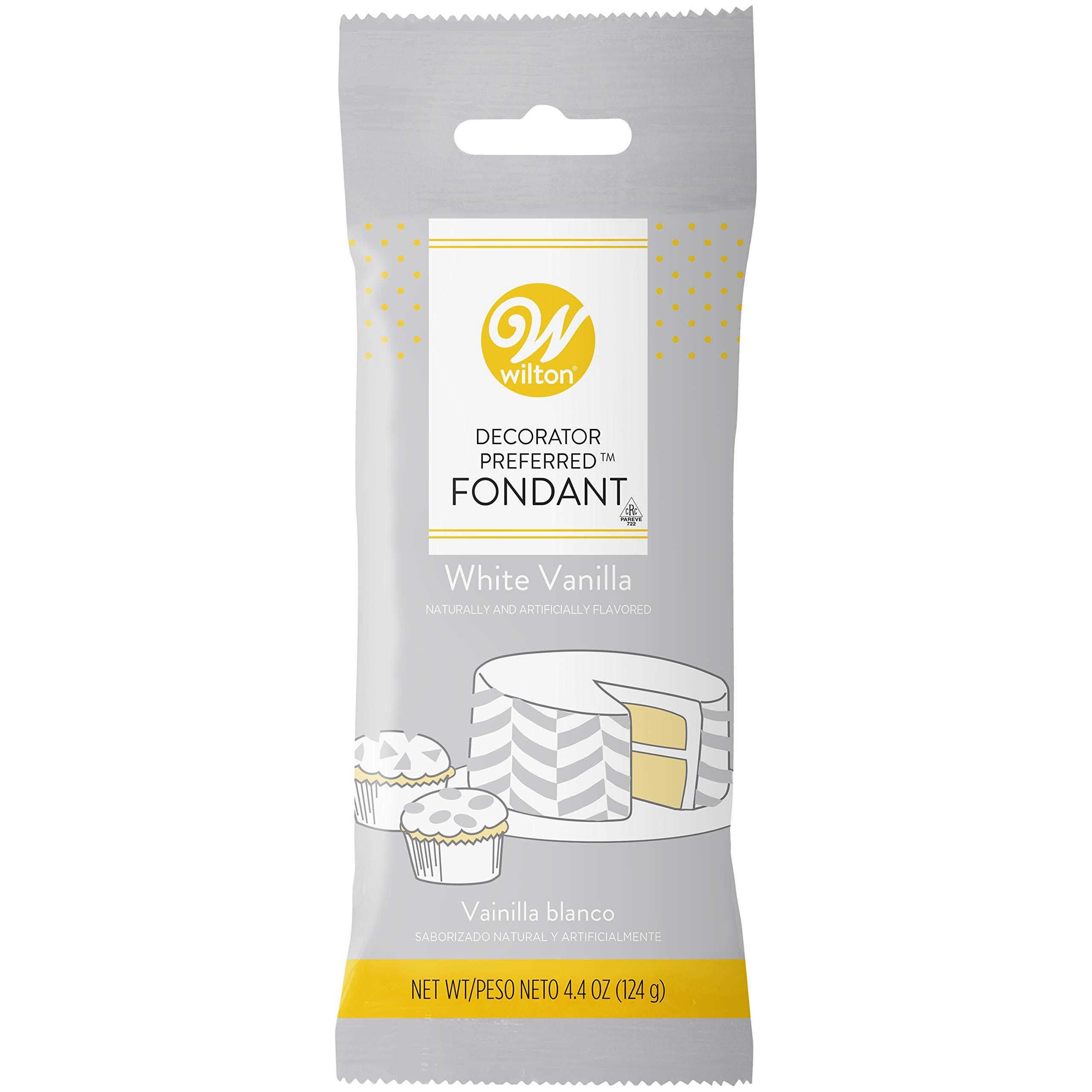 Wilton White Vanilla Decorator Preferred Fondant Pack 4.4 oz. (Packaging May Vary)