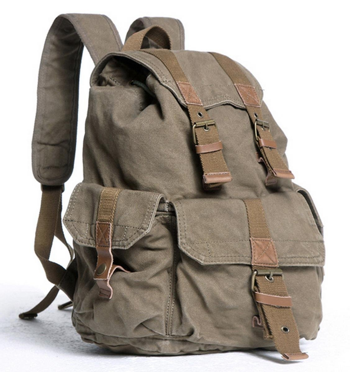 Vagabond Traveler 20'' Large Sport Washed Canvas Backpack C04.GRN