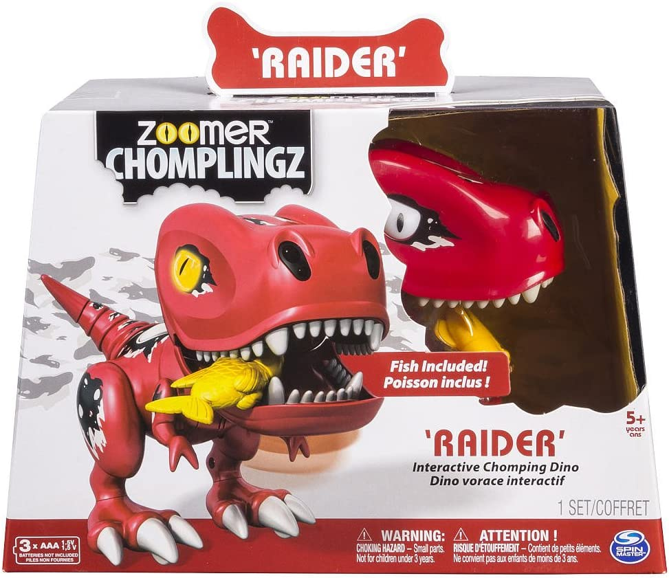 Zoomer Chomplingz Interactive Chomping Dinosaur- Raider