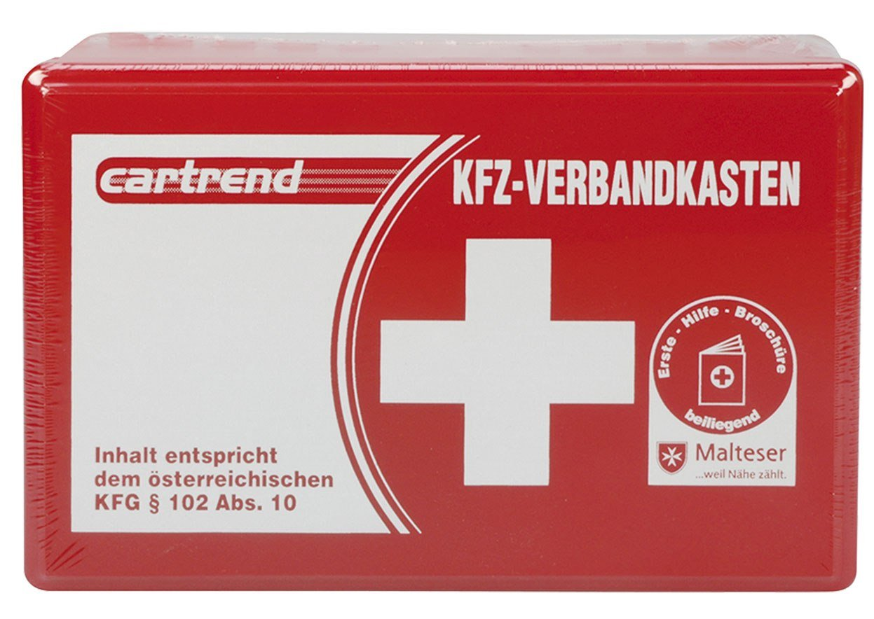 Cartrend 50209 Botiquin de coche austriaco, el contenido viene regulado por la norma de Austria KFG 102 ABS 10
