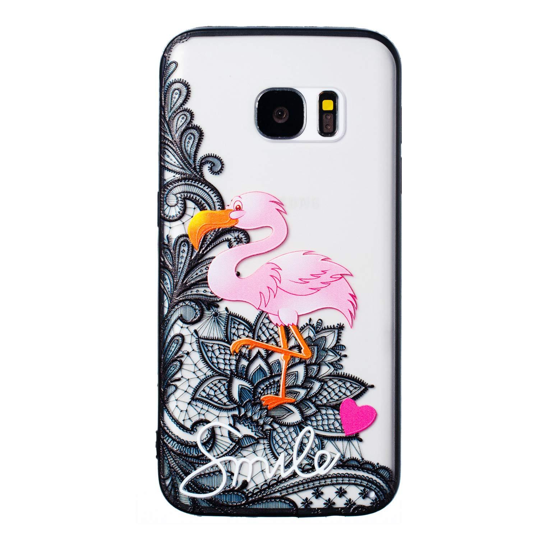 Coque Samsung Galaxy S7, Coffeetreehouse etui en Hard PC Plastique + Flexible Silicone TPU de Bordure [Ultra Mince] [Ultra Lé ger] Transparente Case Anti-Choc Anti-dé rapante Anti-Rayures Couverture Housse de Protection(Chouette) LWK-83202
