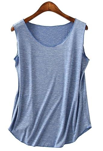 Leisial Camiseta Chaleco de Mujeres Sin Mangas con Algodón Estilo Occidental Sección Delgada Sueltas...
