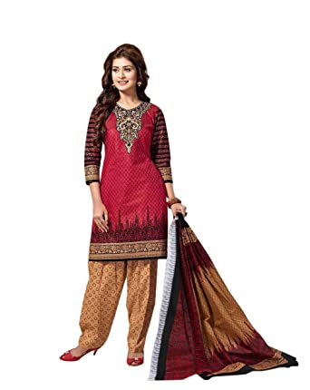 5aeb673d87 Image Unavailable. Image not available for. Colour: Balaji Cotton Chitra  Women's Printed Salwar Suit ...