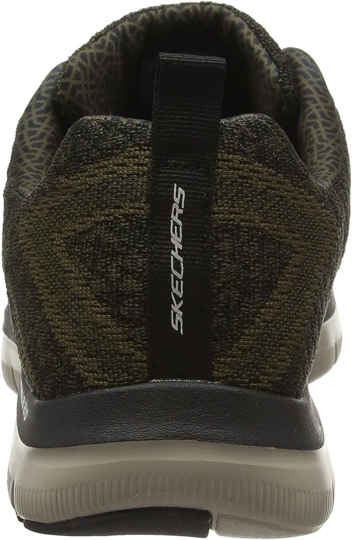 Skechers Men's Flex Advantage 2.0-Golden Point Low-Top Sneakers Green Olive