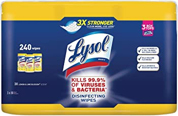 240-Count Lysol Lemon and Lime Blossom Disinfecting Wipes