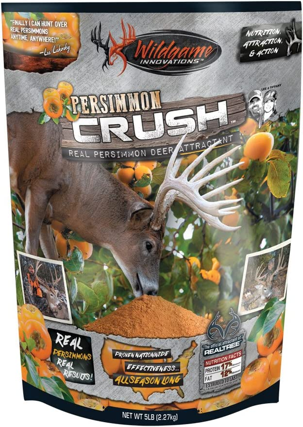 Wildgame Innovations Persimmon Crush Attractant 5-lb. Bag, Orange, 9X16X5 5lbs (00422)