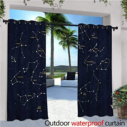 Amazon.com: Constellation - Cortinas de balcón, diseño de ...