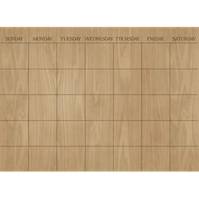 Wall Pops WPE1586 Hardwood Monthly Dry Erase Calendar Decal