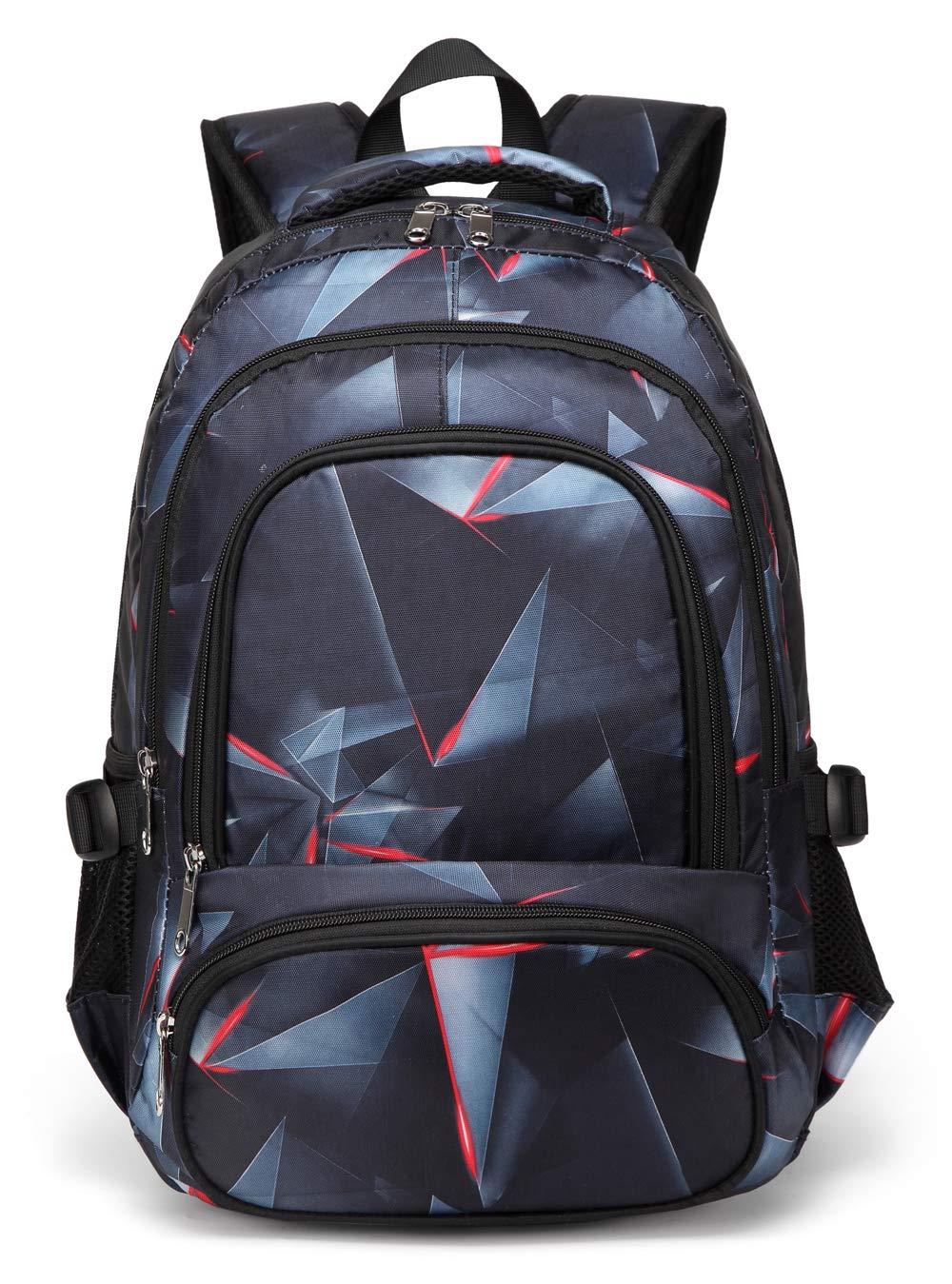 b6975c17d606 BLUEFAIRY Boys Backpacks for Kids Girls Primary School Bag Kindergarten  Bookbags (Black,Red)