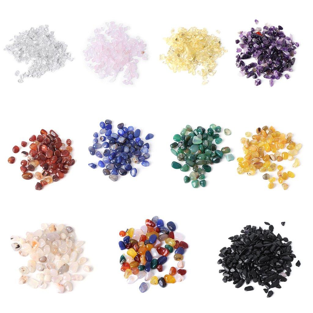 Xuniu 1 Bolsa de Piedra Natural para Acuario decoraci/ón del Tanque de Peces de Cristal /ágata Colorido Grava de gravilla