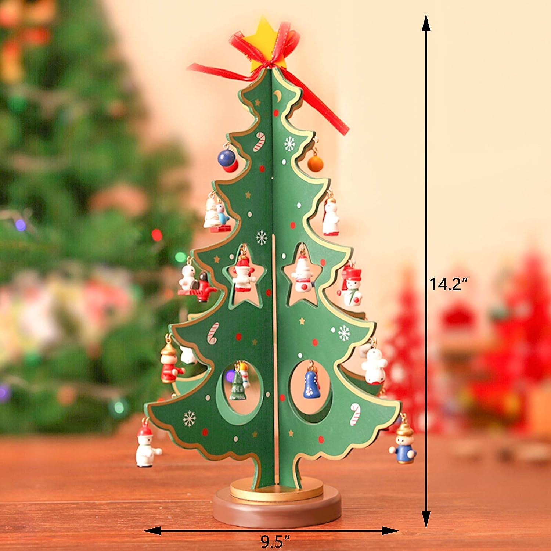 Amazon Com Mini Christmas Tree Diy Wooden Tabletop Christmas Tree