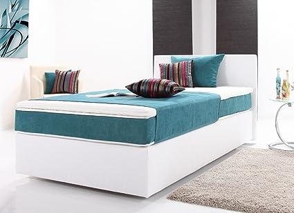 Cama con somier cama Pluto Cama Tapizada camas camas de 140 x ...