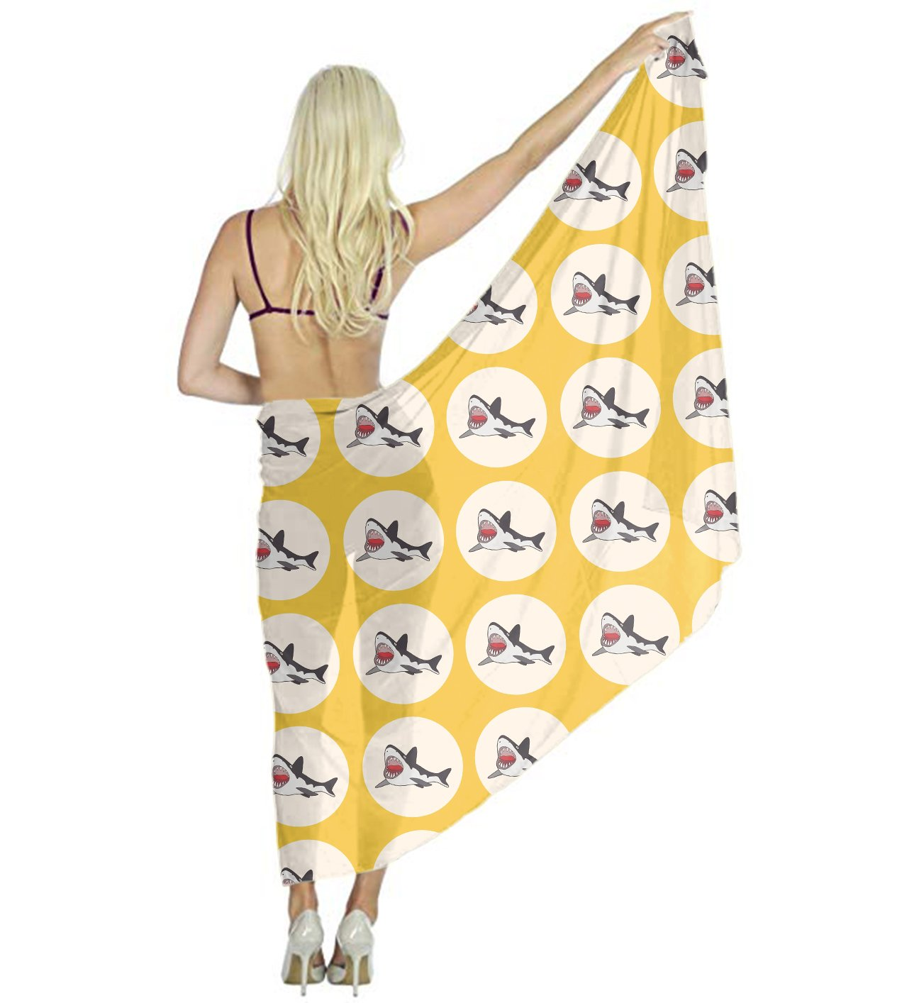 Yellow Shark Scarf for Evening Dresses, Wedding Shawl Wrap for Women