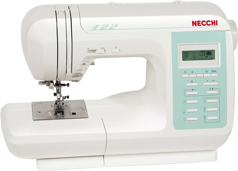 Necchi N422 - Máquina de Coser (LCD, Eléctrico, Color Blanco ...