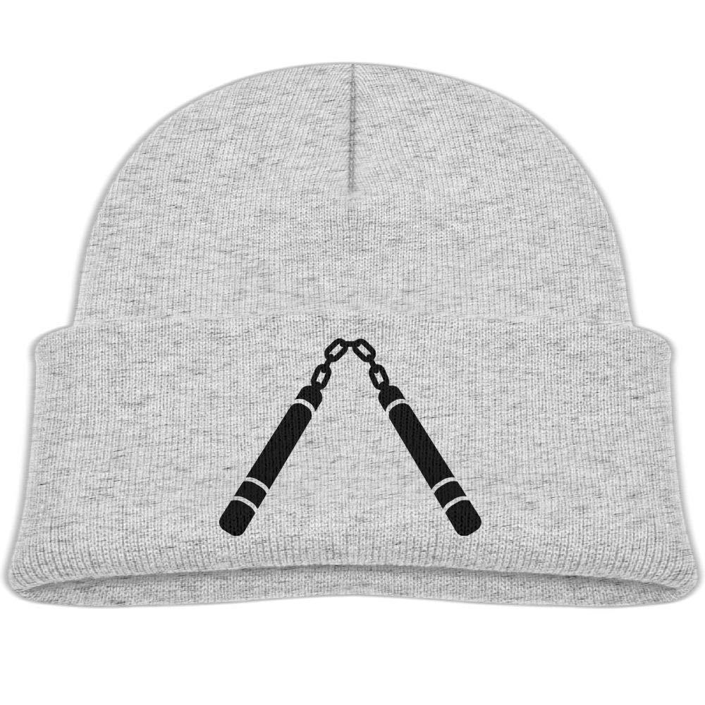 Fzjy wnx Black Nunchaku Wool Knit Hats Warm Boy 0-3 Old