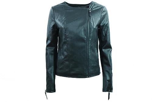 ONLY faux de las mujeres chaqueta de cuero 15140393 NEGRO 40 Nero