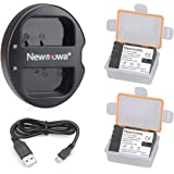 Newmowa DMW-BLF19 Battery (2 pack) and Dual USB Charger for Panasonic DMW-BLF19 and Panasonic DMW-BLF19E Panasonic DMC-GH5 DMC-GH3 DMC-GH3A DMC-GH3H DMC-GH4 DMC-GH4H