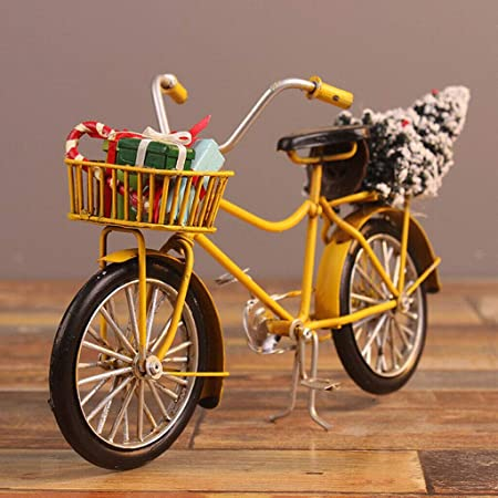 1:10 Alloy Bicycle Model Dollhouse Miniatures Furniture Garden Decor Blue