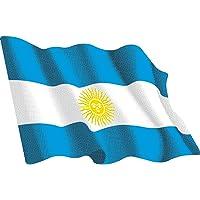 Pegatina Bandera Ondeante Argentina Mediana 80x60 mm.