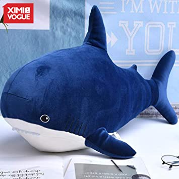 XIMI VOGUE Shark Plush Doll Shaped Soft Plush Toys (Blue) for Birthday Gift for Girls/Kids and Children