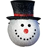 Holiday Snowman Head Porch Light Cover Snowman