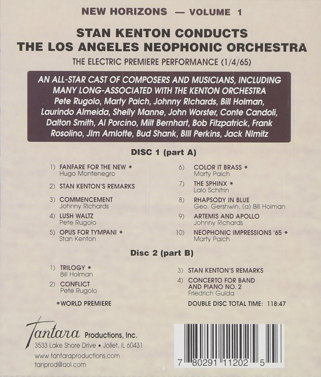 Conducts Los Angeles Neophonic Orchestra, Vol. 1 by Tantara Records